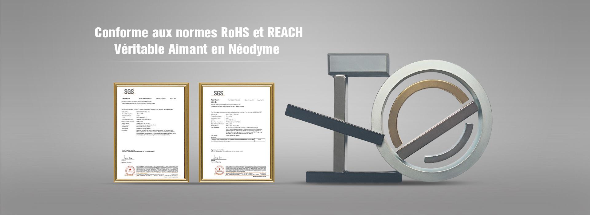 Certificats RoHS et REACH