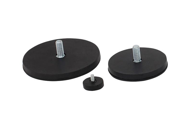 Pot Magnétique Recouvert de Caoutchouc Fileté Extérieur