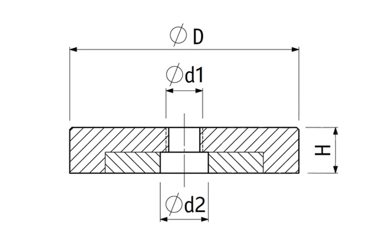 Axial Hole Pot Magnet of NdFeB