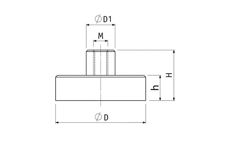 Internal Threaded Pot Magnet of NdFeB