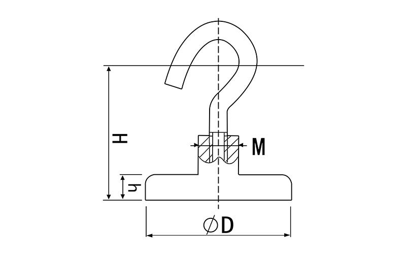 Hook Pot Magnet of NdFeB